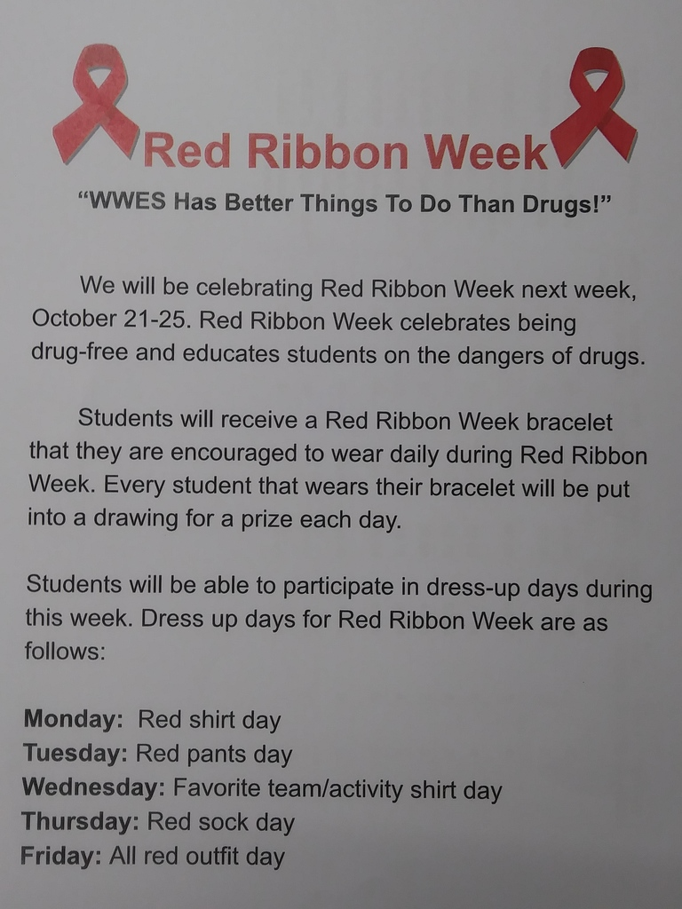 WWES Red Ribbon Week