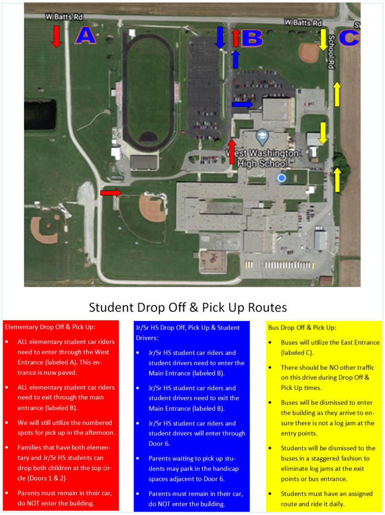drop off map
